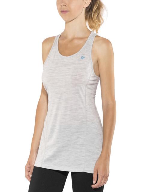 Norrøna Wool Mouwloos Shirt Dames wit